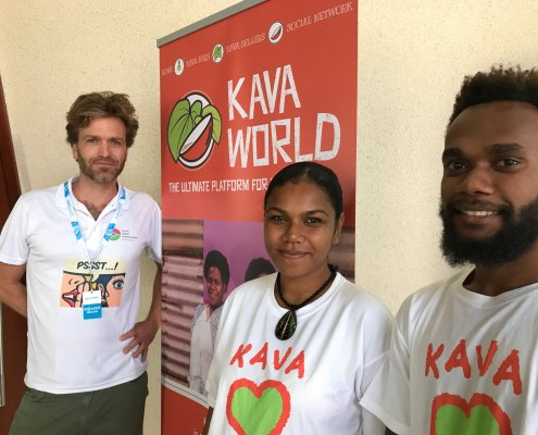 Kava World team Marc, Irene & Jimmy
