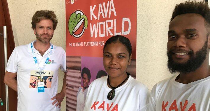 Kava World team Marc, Irene & Jimmy