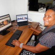 Irene Titek, Business Training Officer at VCCI, discovering the new website.