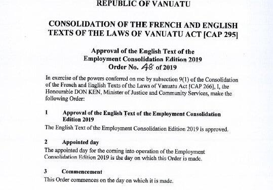 Employment Act amendments