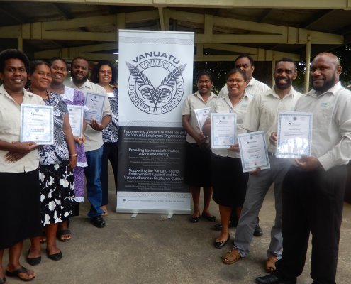 URA participants with their certificates