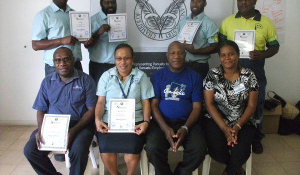Who Says Reporting Writing Isn't Fun! Airports Vanuatu and Terminal Services invest in their staff