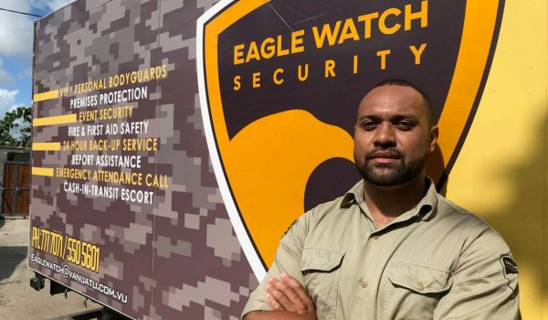 Quality business advice helps Eagle Watch Security in Vanuatu take flight