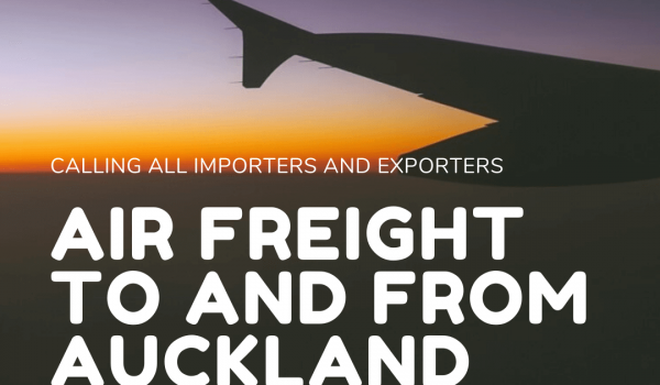 Air freight to and from Auckland opportunity!