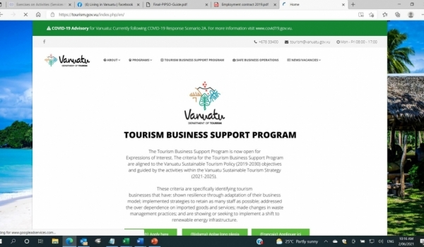 The Tourism Business Support Program explained